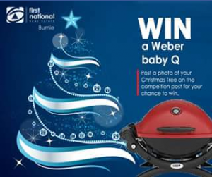 First National Real Estate Burnie – Win this Fab Red Weber Baby Q In Time for Christmas Lunch Enter The #fnreburniexmas Competition Now