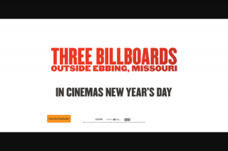 Fresh 92.7 – Win a Double Pass to Three Billboards Outside Ebbing Missouri'