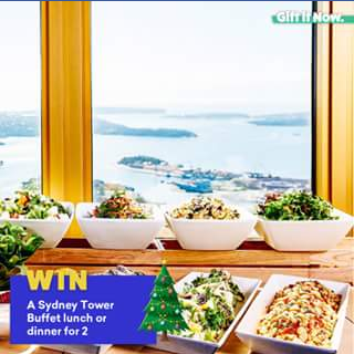Gift It Now – Win a Delicious Lunch Or Dinner at Sydney Tower Buffet