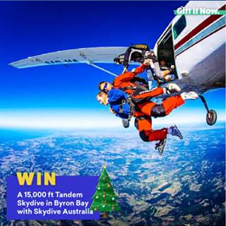 Gift It – Win a Tandem Skydive In Byron Bay With Skydive