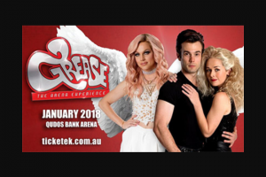 Girl – Win Family (4) Tickets to Grease The Arena Experience on Friday 19th January 2018 @ 8pm