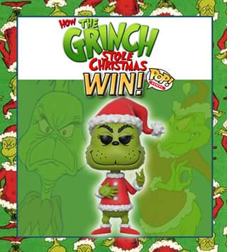 Go Figure Collectables – Win Their Very Own Grinch Pop Vinyl