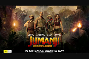 Haven – Win 1 of 30 Jumanji Welcome to The Jungle Prize Packs