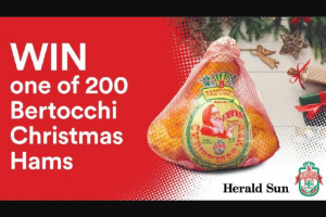 Herald Sun VIC – Win a Bertocchi Christmas Ham (prize valued at $50)