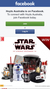 Hoyts Australia – Win Star Wars The Last Jedi Merchandise