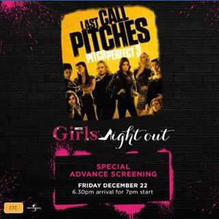 Hoyts cinemas Garden City – Win a Double Pass to Girl's Night Out Pitch Perfect 3