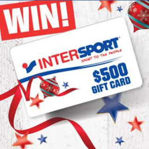 Intersport Australia – Win a $500 Intersport Australia Gift Card (prize valued at $500)