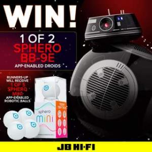 JB HiFi – Win 1 of 2 Bb-9e App-Enabled Droids