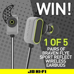 JB HiFi – Win One of Five Pairs of Braven Flye Sport Wireless HeaDouble Passhones