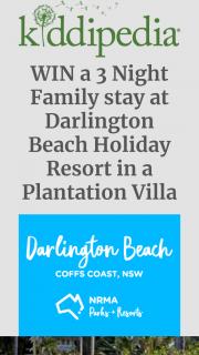 Kiddipedia – Win a 3 Night Family Stay at Darlington Beach Holiday Resort