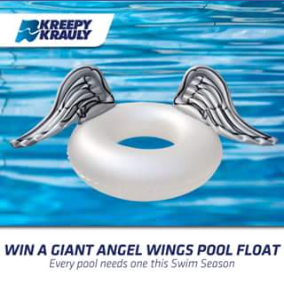 Kreepy Krauly Pool Cleaners – Win a Giant Angel Wings Pool Float