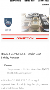 London Court – Win Vouchers (prize valued at $5,200)