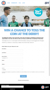 Melbourne City – Win a Chance to Toss The Coin at The Derby