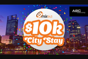 Mix 94.5 – Win a Weekend Stay at Crowne Plaza Overlooking Langley Park for The Best Views of The City of Perth Australia Day Skyworks and $10000 (prize valued at $41,400)