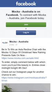 Mocka Australia – Win an Asta Recline Chair