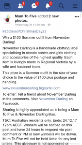 Mum to Five – Win a $100 Summer Outfit From November Darling