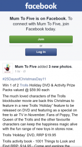 Mum to Five – Win 1 of 2 Trolls Holiday DVD & Activity Prize Packs Valued @ $59.90 Each (prize valued at $59.9)