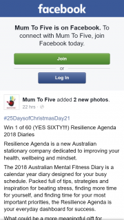 Mum to Five – Win 1 of 60 (yes Sixty) Resilience Agenda 2018 Diaries