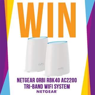 MWave – Win a Netgear Orbi Rbk40 Ac2200 Tri Band Wifi System