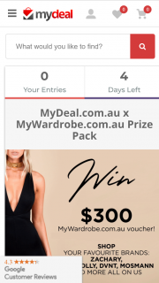 My Deal – Win a $300 Mywardrobe Voucher (prize valued at $300)