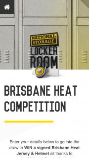 National Storage Locker Room – Win a Signed Brisbane Heat Jersey & Helmet (prize valued at $1,000)