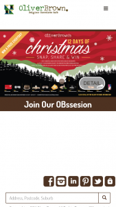 Oliver Brown Snap Share and – Win 12 Days of Christmas (prize valued at $100)