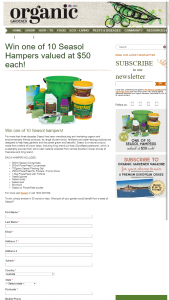 Organic Gardener – Win One of 10 Seasol Hampers (prize valued at $50)