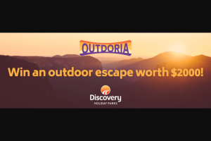 Outdoria – Win Your Next Outdoor Escape Worth $1000 (prize valued at $2,000)