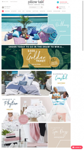 Pillow Talk – Win 1 of 5 $500 Golden Tickets (prize valued at $2,500)