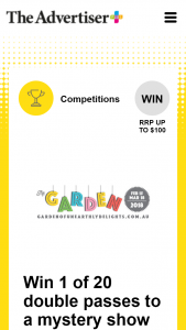Plusrewards – Win a Double Pass to a Mystery Show at The Garden of Unearthly Delights 2018 (prize valued at $658)