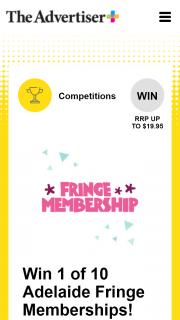 Plusrewards – Win 1 of 10 Adelaide Fringe Memberships (prize valued at $199.95)