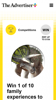 Plusrewards – Win One of Ten Family Experiences to See Dinosaur Revolution at The South Australian Museum (prize valued at $1,540)