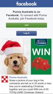 Purina Australia – Win One of 50 Totalcare Christmas Oinkers
