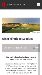 Qantas frequent flyer – Win a Trip for Two to Watch The World's Best Compete In The 147th Open at Carnoustie