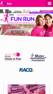 RACQ International Women's Day Fun Run 2018 Early Bird Registration – Competition (prize valued at $1,000)