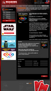 Reading cinemas Newmarket – Win a Double Pass to The Opening of Reading Cinemas Newmarket and a Special Screening of Disney Pixar's Coco