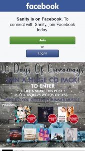 Sanity – Win 10 Days of Christmas Giveaways