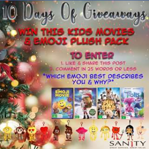 Sanity – Win this Kids Movies & Emoji Plush Pack
