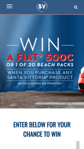 """Santa Vittoria – """"win a Fiat® 500c"""" Promotion (the """"promotion"""") Entrants Must (prize valued at $24,500)"""