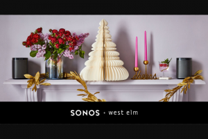 SONOS & West Elm – Win 1 of 5 Entertainers's Gift Pack (prize valued at $229)
