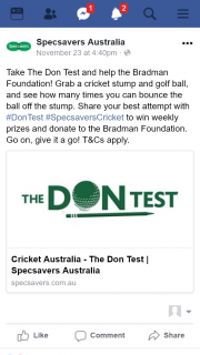 SpecSavers – Cricket Australia – Win a Maximum of One (1) Prize (prize valued at $20,000)