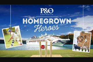 Channel Ten – Win a P&O Cruise for Your Homegrown Local Cricket Club Hero and for Yourself