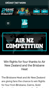 The Brisbane Heat and Air New Zealand – Win Flights for Four From Brisbane