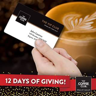The Coffee Club – Win 1/5 VIP Memberships