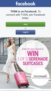 TVSN – Win 1 Or 3 Serenade Suitcases