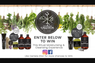 Wellbeing – Win 1 of 5 Cantata Elixir Gift Packs