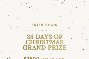 Win The 25 Days of Giveaway Grand Prize (prize valued at $2,500)