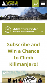 World Expeditions – Win a Chance to Climb Kilimanjaro (prize valued at $3,690)