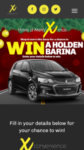 X Convenience – Win a Prize (prize valued at $13,600)