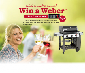 Accolade Wines – LMG Weber BBQ – Win 1 of 3 Weber Genesis II E310 BBQs valued at $1,299 each